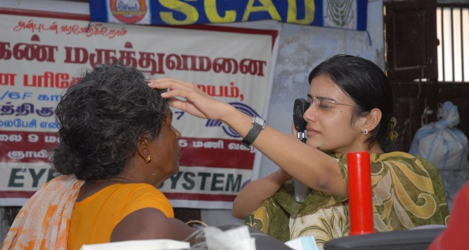 Eye camps are part of the health programme