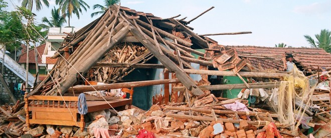After the Asian Tsunami 2002 SCAD worked tirelessly to help after villages were left in this destruction