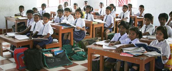 Children learning in a SCAD formal school