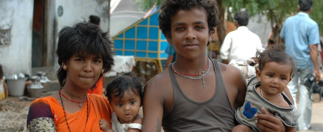 Gypsy family from Pettai with Social Change and Development