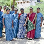 Women's Self Help Group in their SCAD saris