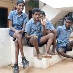 Children at Anbu Illam hanging out