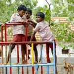 SCAD provide equipment so that children can play at school